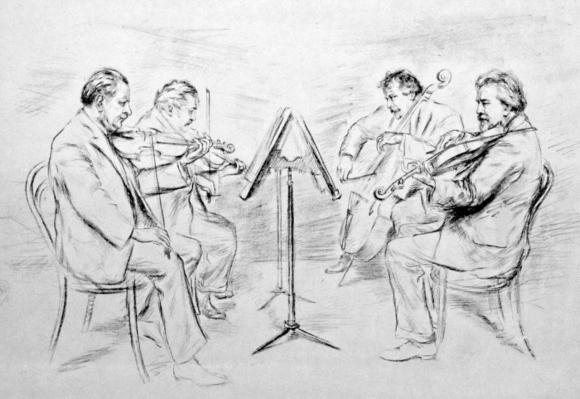Bohemian Quartet drawing