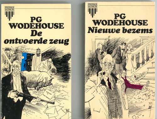 Covers by Peter Straaten for Dutch translations of two P.G. Wodehouse novels