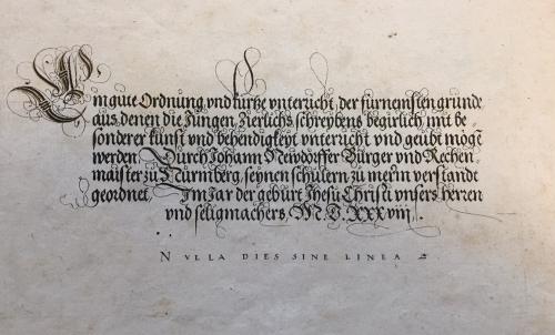 Title-page of Johann Neudörffer, Ein gute Ordnung und kurtze Unterricht