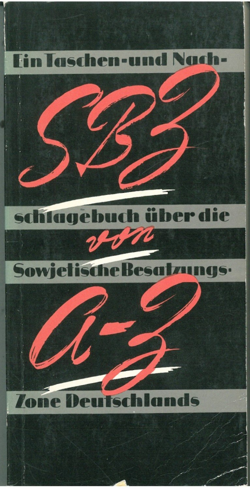 Front cover of the handbook 'SBZ von-A-Z ',1966