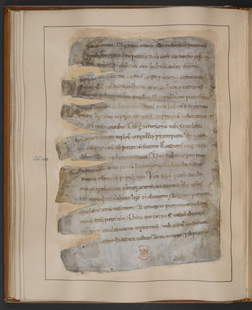 A page from a 10th-century manuscript of Gildas' The Ruin of Britain.