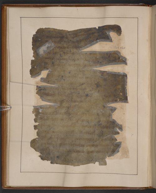 A page from a 10th-century manuscript of Gildas' The Ruin of Britain, damaged by fire in 1731.