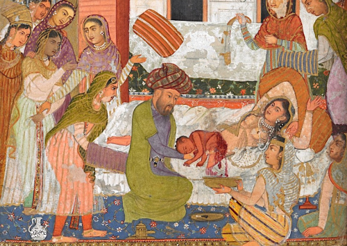 birth of Rustam. 1616, Mughal, India