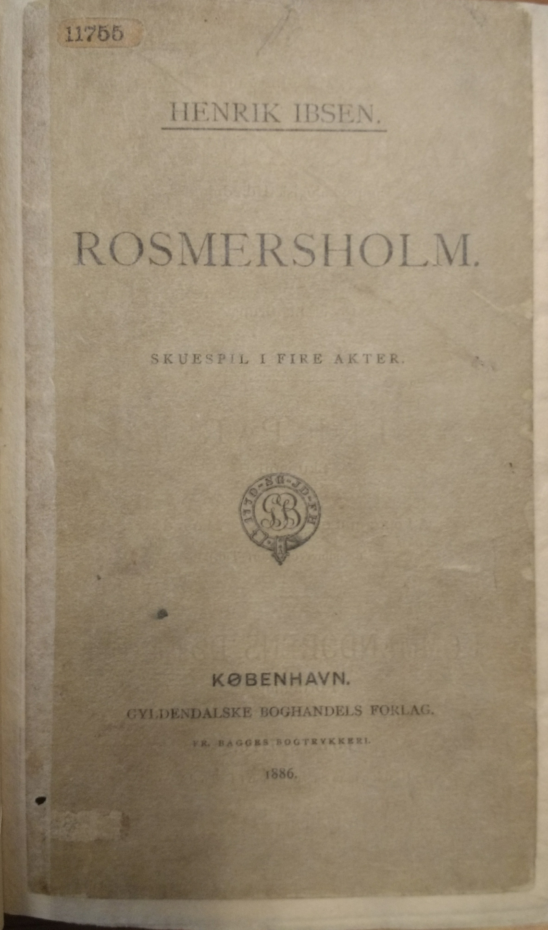 Rosmersholm First Ed Title Page