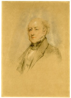 A drawing of Felix Slade by Margaret Carpenter