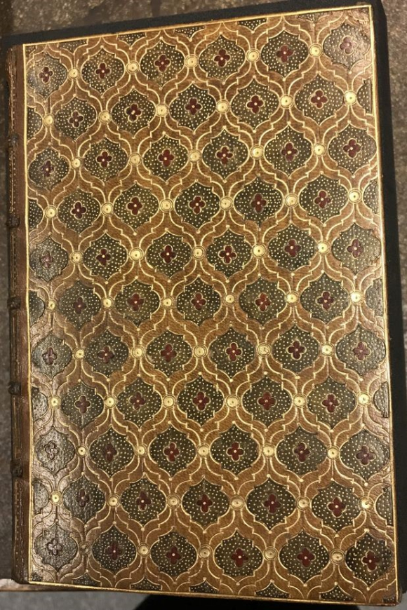 18th-century gold tooled goatskin binding by Antoine Michel Padeloup le Jeune