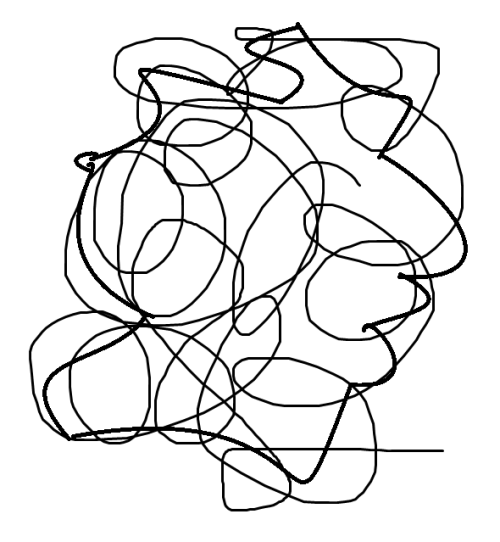 A squiggly spiraly shape