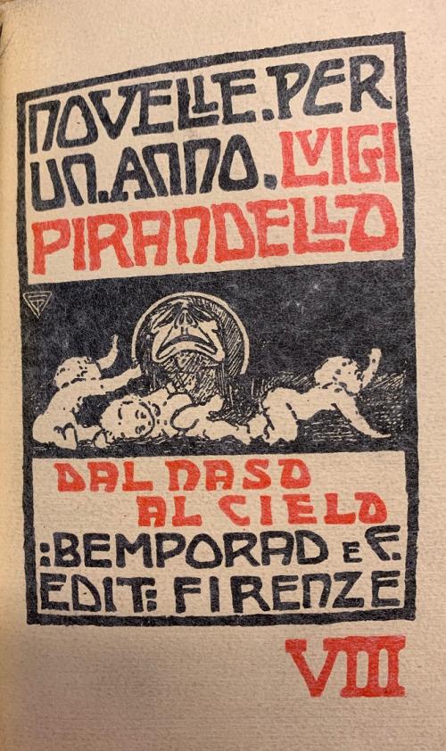 Frontispiece of Luigi Pirandello, Dal naso al cielo