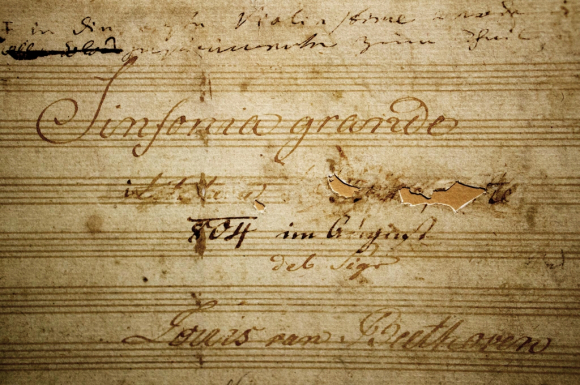 Title page for Beethoven's Symphony in E flat major, Op.55, 'Eroica'
