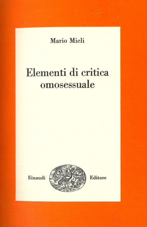 Title page of Mario Mieli's essay Elementi di critica omosessuale