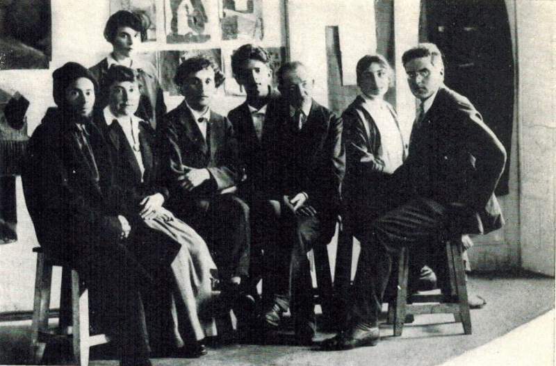 IMAGE 1  Professors at the People's Art School in Viciebsk  July 1919