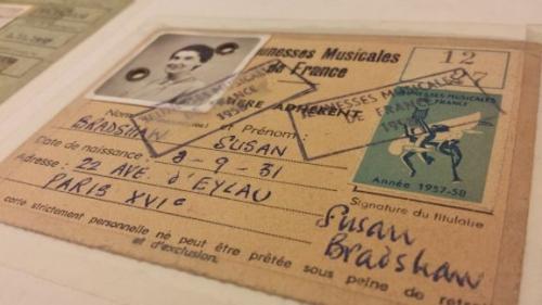 Bradshaw's student ID card_MS Mus.1755-4-3