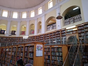 A view of the reading room inside the State Central Library