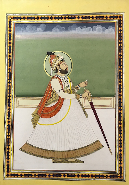 Portrait of Jagat Singh II. Jaipur, 1810–15 (BL Add. Or. 5132)