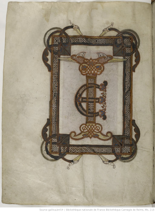 A page from a medieval manuscript, showing a highly illuminated initial ligature TE.