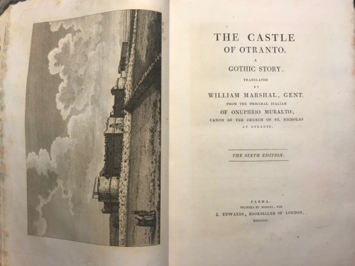 Title page from The Castle of Otranto