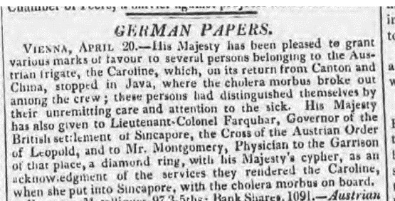 Montgomerie Morning Chronicle 5 May 1824