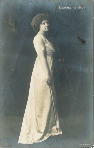 Beatrice Harrison with cello