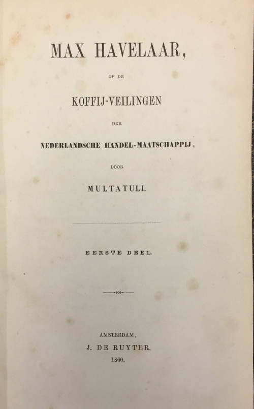 Title page of the 1860 edition of Max Havelaar