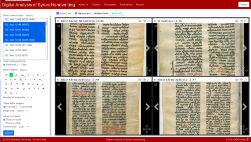 British Library Syriac manuscripts by a Jeshua son of Andrew, displayed on DASH using Mirador