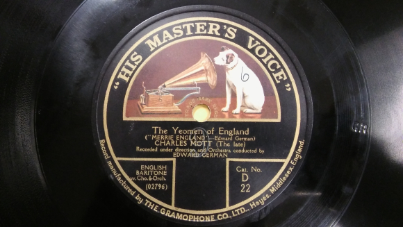 HMV label for Yeoman of England