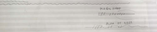 Fragment of sketch for electronic interlude in Birtwistle's 'The Mask of Orpheus'