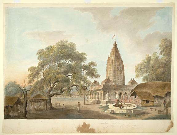 Temple of Maa Samaleswari in the fort, Sambalpur. By the 'Gilbert artist', 1825-27. Credit: British Library
