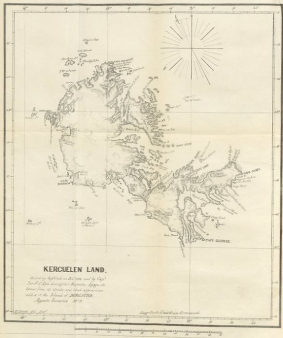 Map of Kerguelen