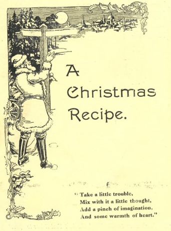 Front cover of A Christmas Recipe