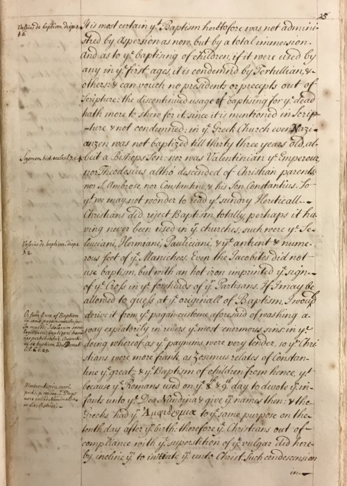 Manuscript page from An account of the Life of Mahomet