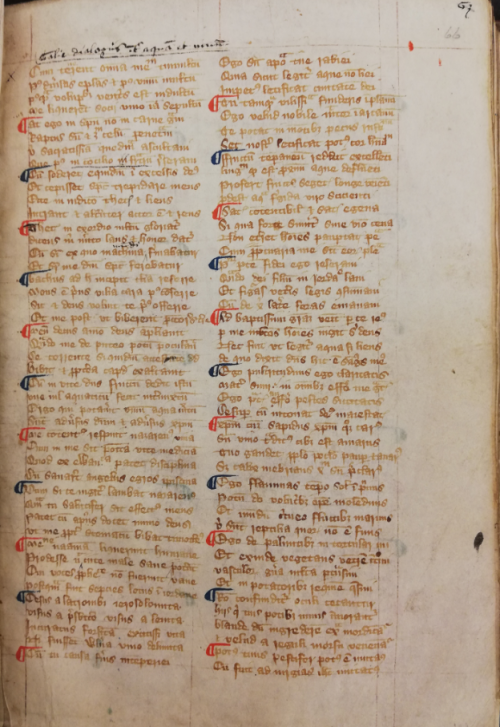 Manuscript of the Goliardic Dialogue