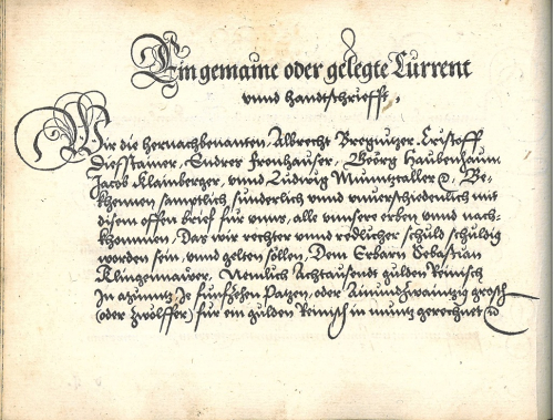 An example of 16th-century German handwriting