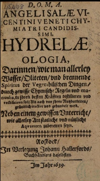 German title-page of a book from 1639 showing the use of Fraktur and Roman type together