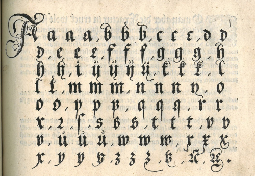 An alphabet in Fraktur type