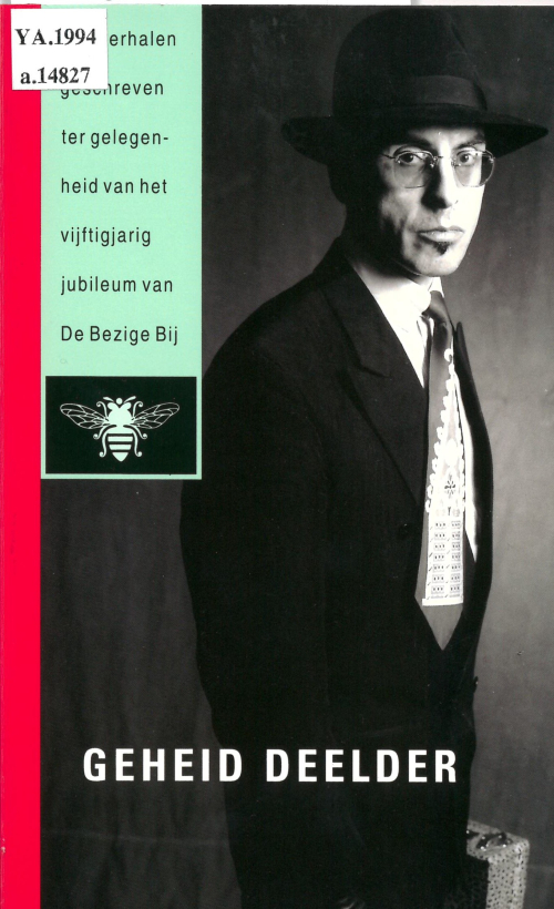 Cover of 'Geheid Deelder' with a photograph of the author