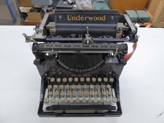 Underwood typewriter on a desk