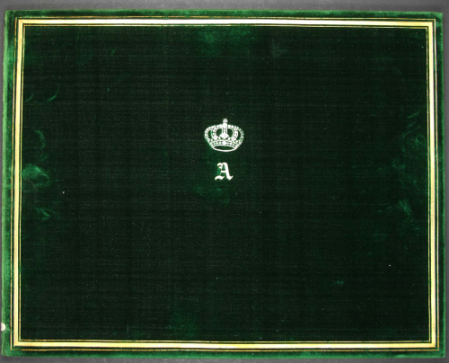 Front cover of a manuscript volume belonging to Prince Albert
