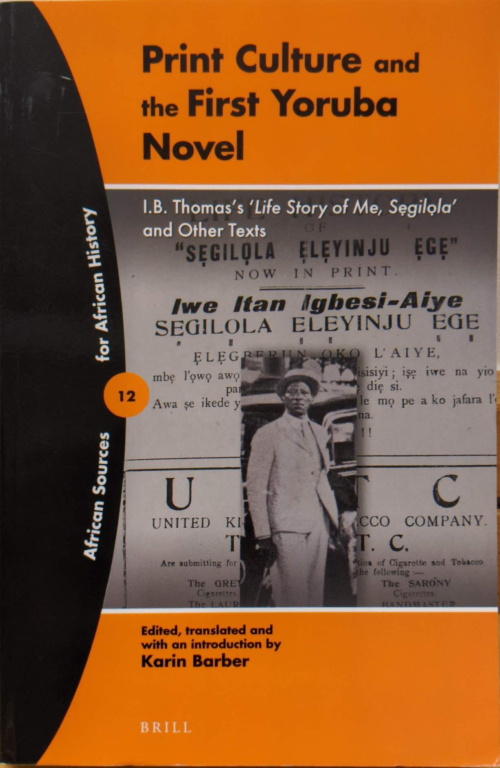 Cover of Print Culture and the first Yoruba Novel.