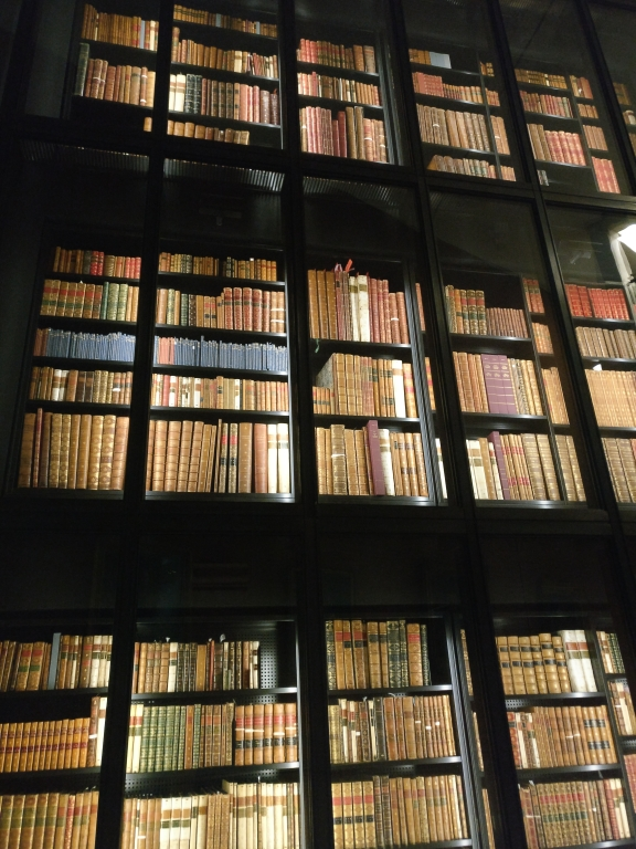 The King's Tower of books inside the British Library