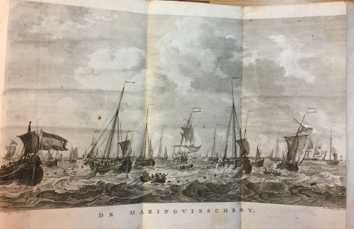 Engraving of herring fisheries by Sallieth (artist) and Kobell (engraver)