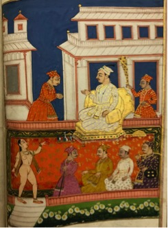 'Yogini in the Court's Majalis', from Laẕẕat al-nisā' (BL Add.MS.17489)