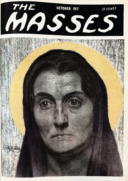 Front cover of The Masses vol.9 no.2 showing portrait in religious style