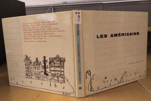 Photograph of Les Américains. Photographies de Robert Frank [RF.2017.a.63] showing the front and back covers of the book