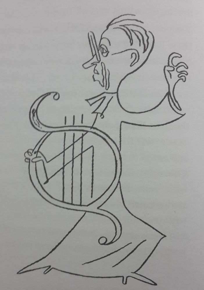 Caricature of Resler