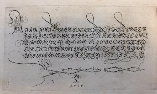 An alphabet in capitals fromEin gute Ordnung