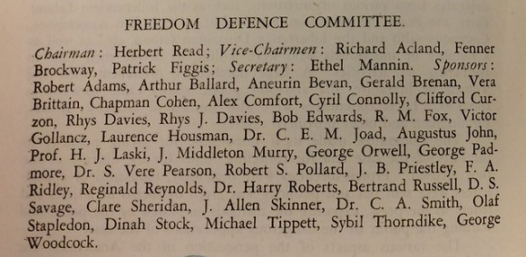 List of members of Freedom Defence Committee