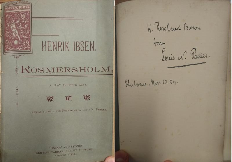 Rosmersholm Parker Title Page