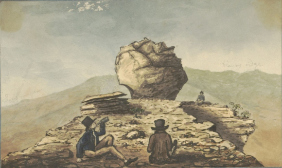 View of Diana's Ridge, from the summit of Sugar Loaf. from Burchell's Saint Helena Journal