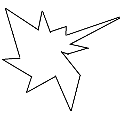 An angular spiky shape