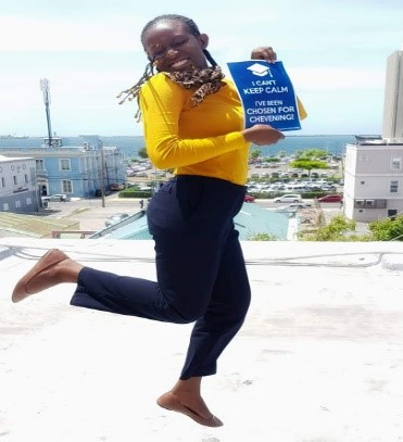 Selected as one of the 19 Chevening awardees from Jamaica, and as the only Fellow, Chantelle joyfully celebrates her Chevening Fellowship award